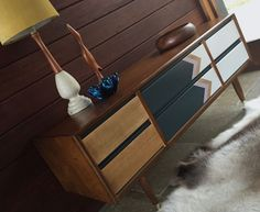 Retro Mid Century Danish Vintage 1960s Scandi Sideboard Drawers Buffet