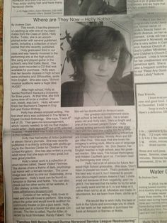 Holly gives us a mention in her local newspaper.  www.iamnotfrazzle.webs.com