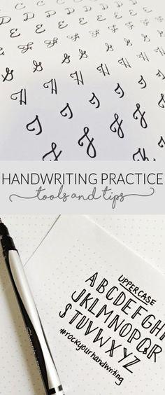 Handwriting Practice Tools & Tips #handlettering #bulletjournal