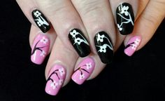 Pink & black cherry blossoms. Inspired by Robin Moses.