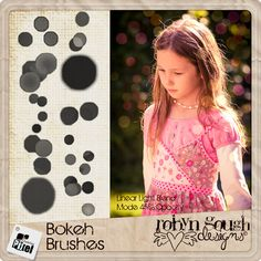 Bokeh Brushes by Robyn Gough on Etsy, bokeh brushes, photography brushes, photoshop brushes, digiscrap brushes