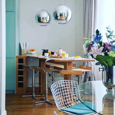 """BIID on Instagram: """"#BIID MEMBER SPOTLIGHT: Clare Topham @claretophaminteriors  Clare Topham Interior Design, based in Brighton, working with clients in…"""" Tom Dixon, Interior Design London, London Brighton, Mirror Ball, Interiores Design, Spotlight, My Design, Dining Table, House"""