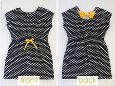 Tutorial: Easy bow back knit dress for girls