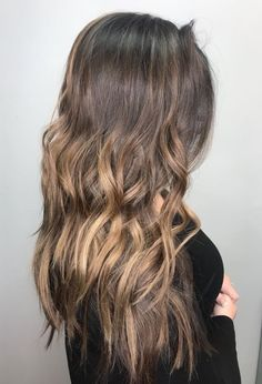Dark brown & blonde ash balayage