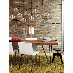 Dining room light option? Would show dust pretty clearly :( firefly pendant lamp in pendant lamps   CB2