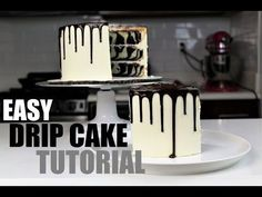 How to Make A Chocolate Drip Cake | CHELSWEETS - YouTube