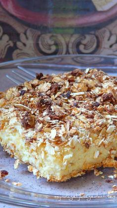 Honeyed Oat Cottage Cheese Bars with Lemon - Gluten Free. These look pretty healthy and tasty.