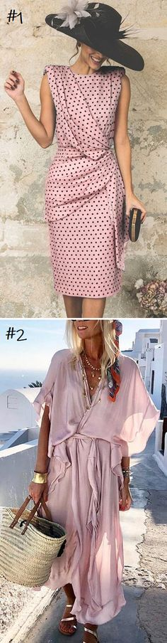 SHOP NOW>>>Up To 70% OFF Summer Dresses for Your Choice! Full Sizes Option.Free Shipping Order over $80.Buy More Save More! Special Dresses, Nice Dresses, Formal Dresses, Pink Fashion, Fashion Dresses, V Dress, Summer Outfits, Cute Outfits, Vestido Casual