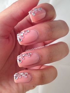 121 Best Nail Art With Rhinestones Etc Images On Pinterest Beauty