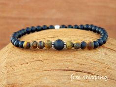 Tiger Eye bracelet,Onyx bracelet,Stretch bracelet,Gemstone bracelet,Energy bracelet,Yoga bracelet