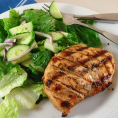 Rosemary Mustard Grilled Chicken Breasts  #ChickenBreasts, #Grilled, #Mustard, #Rosemary