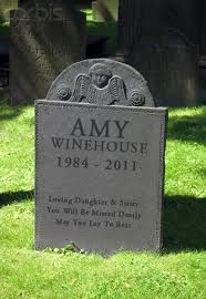 amy winehouse gravestone - Google Search.  So sad, so young and successful.  An eating disorder and drugs claimed her life.