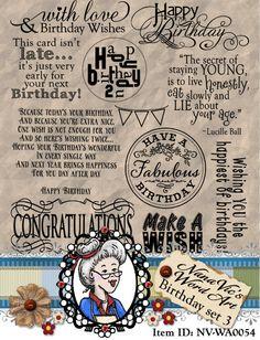 Birthday set 3 Word Art Sentiments Digital Digi Instant Download ID:NV-WA0054 By Nana Vic by NanaVicsDigitals on Etsy