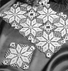 Home Decor Crochet Patterns Part 48 - Beautiful Crochet Patterns and Knitting Patterns Crochet Tablecloth Pattern, Crochet Coaster Pattern, Crochet Square Patterns, Crochet Borders, Macrame Patterns, Crochet Motif, Crochet Stitches, Knitting Patterns, Lace Doilies