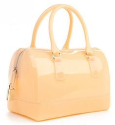 002c6ad29bd1 Peach Jelly Handbags for Women Jelly Silicone Peach Bags