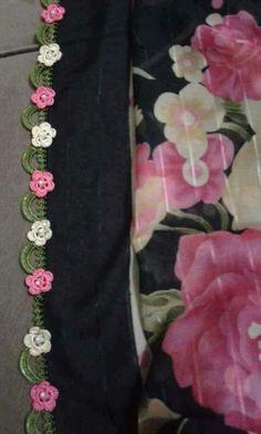 125 Grain Crochet Embroidered Writing Edges All in One Schöne Mid Pearl Pearl Patter Blume Häkelspitze - Yemeni oyası - Crochet Lace Edging, Crochet Borders, Crochet Flowers, Crochet Patterns, Crochet Home, Knit Crochet, Dyi Flowers, Lace Wrap, Hand Embroidery Designs
