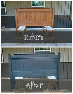 DIY Chalkboard Painted Bed - Blissfully Ever After