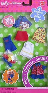 Barbie Kelly & Tommy Fashions Gift Pack w 4 Kelly Fashions & 1 Tommy Outfit Barbie Doll Set, Baby Barbie, Barbie Sets, Vintage Barbie Dolls, Mattel Barbie, Baby Dolls, Barbie Kelly, Barbie And Ken, Boy Doll Clothes
