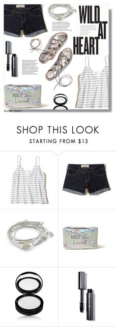 """""""Shorts and Sandals"""" by heather-reaves ❤ liked on Polyvore featuring Hollister Co., Lizzy James and Bobbi Brown Cosmetics"""