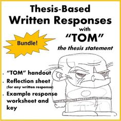 Parts of thesis statement