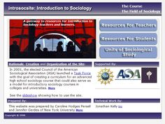 free sociology curriculum for high school (click on resources for teachers)
