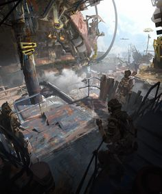 Scrap_metall _2 , Wadim Kashin on ArtStation at https://www.artstation.com/artwork/mezv1