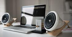 Joey Roth ceramic speakers. Cool design and sound