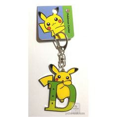 Pokemon Center 2017 Pikachu Keychain (Version D)