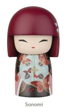 """Kimmidoll™ Sonomi - 'Friendship' - """"My spirit reaches out and embraces. With your heart always open and your hand always extended you live the spirit of a friend. May friendship expand the borders of your world and enrich your life forever."""""""