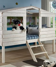 Love this Tree House Twin Loft Bed on #zulily! #zulilyfinds