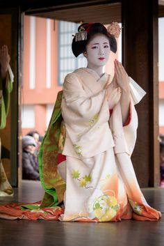 Lovely Maiko Performing on Stage