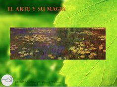 """CLAUDE MONET – """"Nympheas (nenúfares)""""  1920-1926 - Paris, Musée de l'Orangerie.  La serie de los nenúfares realizada por Monet ha sido descrita como """"La Capilla Sixtina del Impresionismo""""."""