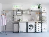 "Discover more information on ""laundry room storage diy shelves"". Browse through our internet site. Ikea Algot, Farmhouse Storage Cabinets, Farmhouse Laundry Room, Laundry Room Shelves, Laundry Room Cabinets, Laundry Rooms, Small Laundry, Diy Cabinets, Bedroom Organization Diy"