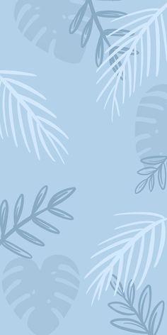 Palm leafs blue wallpaper by HokkaidoCo | Pastel background wallpapers, Cute blue wallpaper, Pastel iphone wallpaper