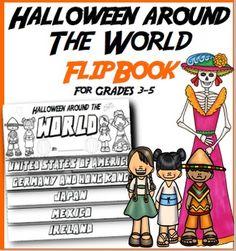 Halloween Around the World Flip Book: Interactive Activity