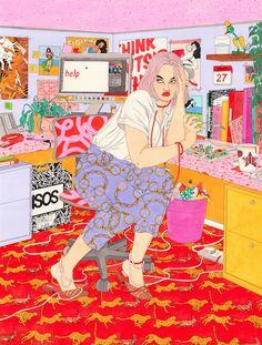 La peintre et illustratrice Laura Callaghan s'immisce dans l'intimité de filles comme vous et moi.