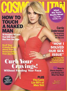 Carrie Underwood on the cover of Cosmo Magazine - March 2010