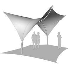 Membrane Structure, Roof Structure, Shading Device, Tensile Structures, Covered Walkway, Plan Sketch, Digital Fabrication, Parametric Design, Roof Architecture