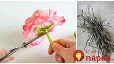 Zabudnite na veniec: Vezmite pár konárikov zo záhrady, lacné umelé kvety a máte tú najkrajšiu jarnú ozdobu na vchodové dvere! Ikebana, Diy And Crafts, Hair Accessories, Easter, Handmade, Catering, Home Decor, Garden, Hand Made