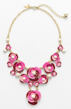 Blossom inspired statement necklace by Kate Spade