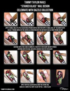 """Tammy Taylor Nails """"Stained Glass"""" Nail Design, with The Celebrate With Dazzle Collection"""