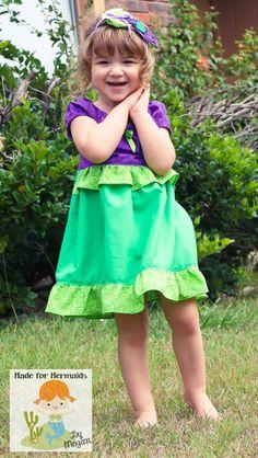 Little Mermaid Ariel Dress Disney Princess 5 6 by madeformermaids, $46.00
