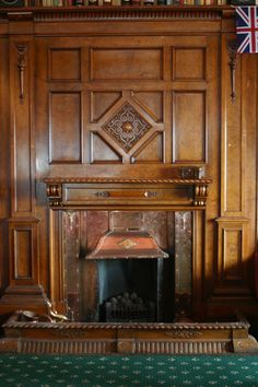 fireplace and wall panels