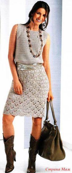 Платье крючком - Вяжем вместе он-лайн - Страна Мам