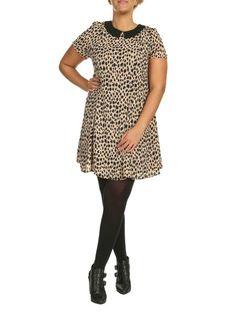 Threads Collared Swing Dress in cheetah