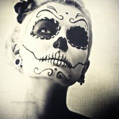 I did the sugar skull last year for Halloween...Got so many great compliments :)