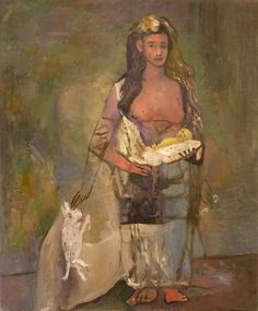 """Original Steve Binetti painting. Title: """"Josefine"""".  Oil on canvas.  Signed on the backside """"Steve Binetti Josefine 2006-2017"""". Size: 90 x 70 x 4 cm.  (please note: dimensions are given in centimeters) Weight: ca. 1300 gr. Shipping weight ca. 2600 gr. Condition: perfect."""