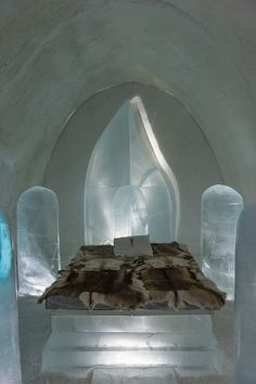 Evolution Suite at Jukkasjärvi Ice Hotel, Sweden