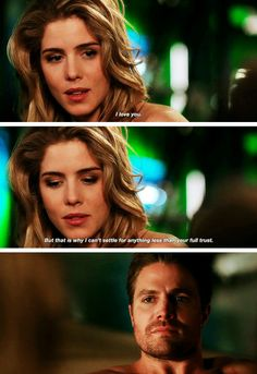 """#Arrow 5x20 """"Underneath"""" - """"I love you. But that is why I can't settle for anything less than your full trust"""" - #FelicitySmoak #OliverQueen"""