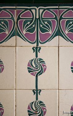 Art Nouveau tiles...